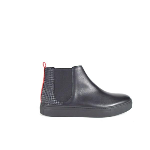 Stokton Sneakers Polacchino Elastici Nero Fondo gomma