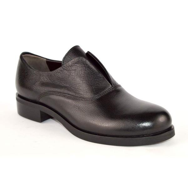 Laura bellariva Scarpa Pantofola Nero Fondo cuoio e gomma