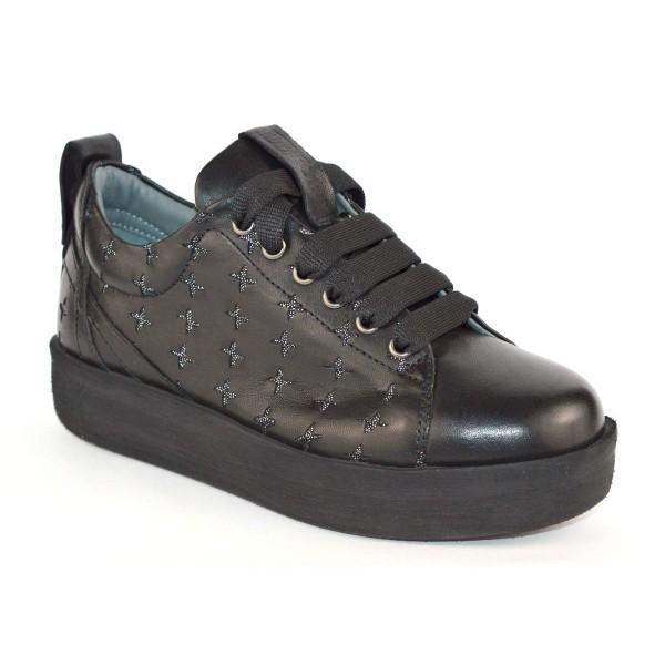 Andia fora Sneakers Stelle Nero Fondo gomma