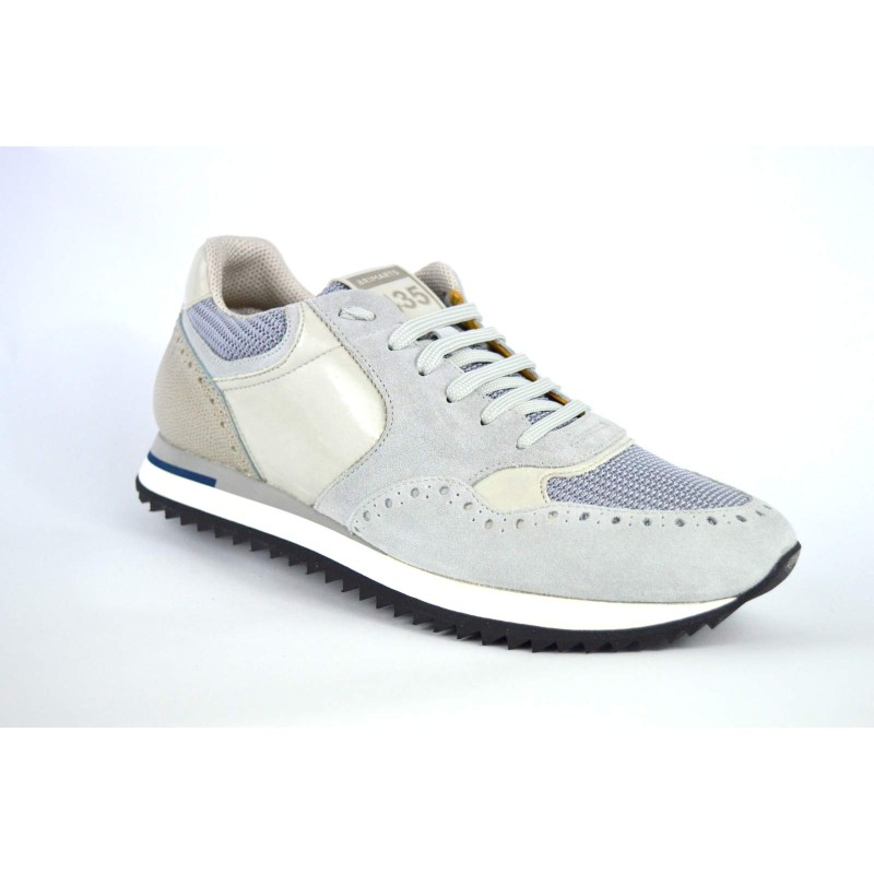 Brimarts Sneakers Forato Grigio chiaro Fondo gomma