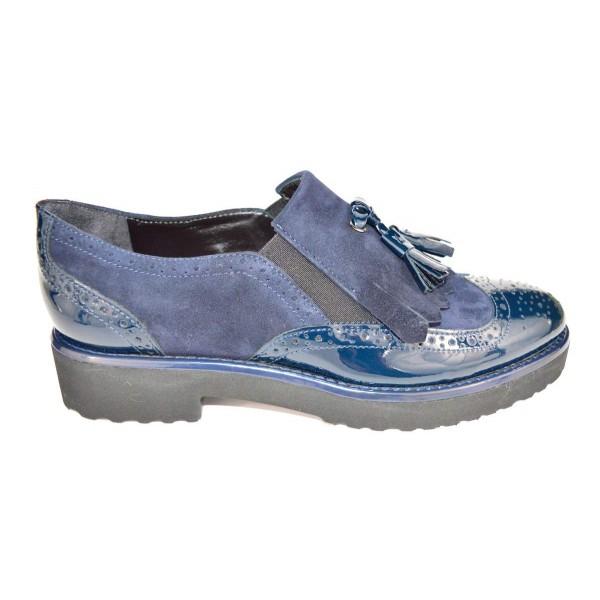 Altariva Pantofola Frangia Blu Fondo gomma