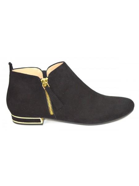 Altariva Pantofola Zip Nero Fondo gomma