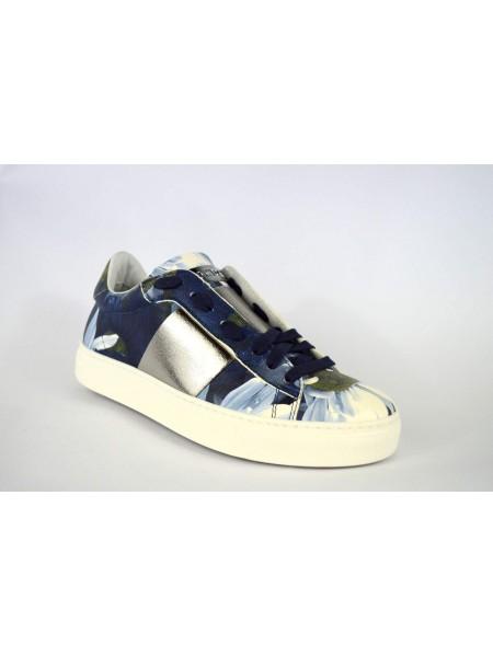Stokton Sneakers Fiori Blu Fondo gomma
