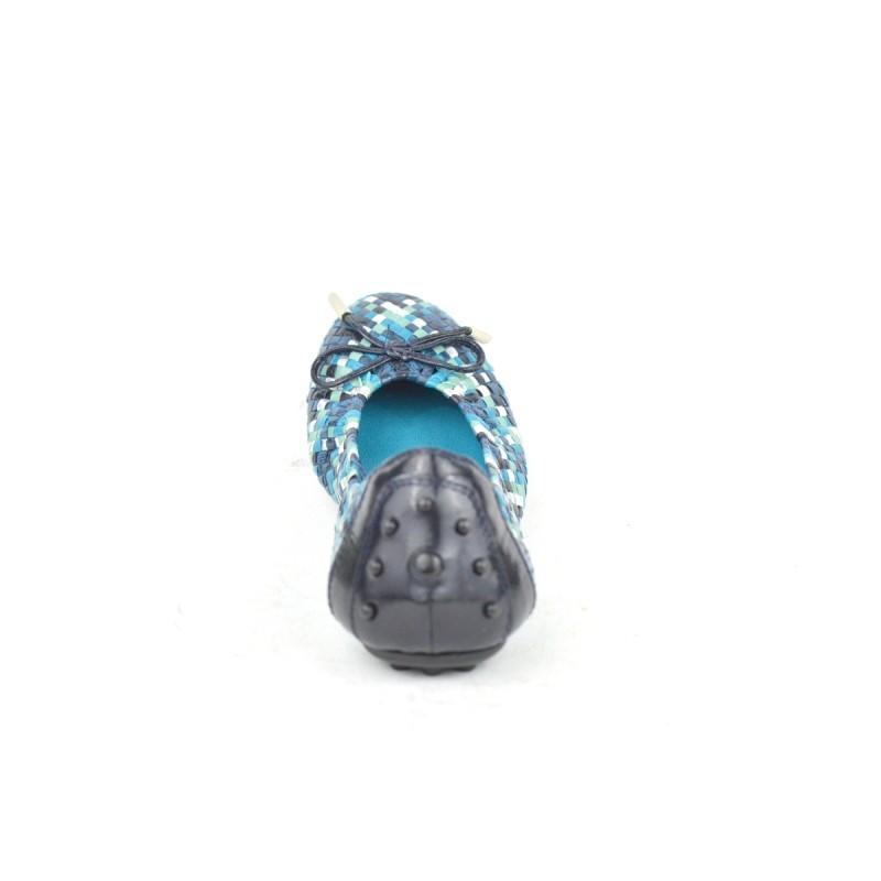 Pons quintana Ballerina Intrecciato   Blu + arg. Gomma chiodini
