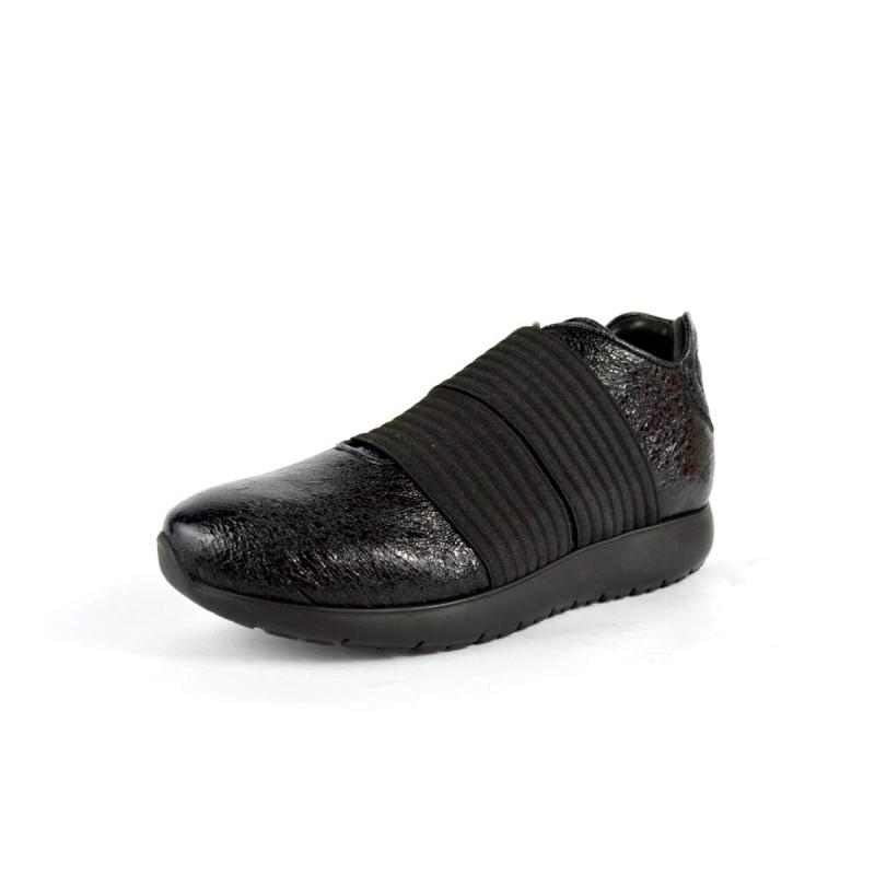 Andia fora Sneakers Due elastici Nero Fondo gomma