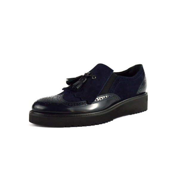 Altariva Pantofola Frangia Nappine Blu Fondo gomma