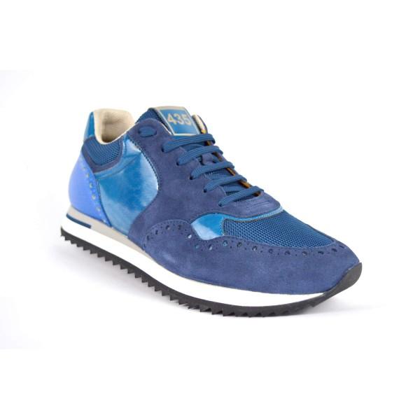 Brimarts Sneakers Forato Blu Fondo gomma