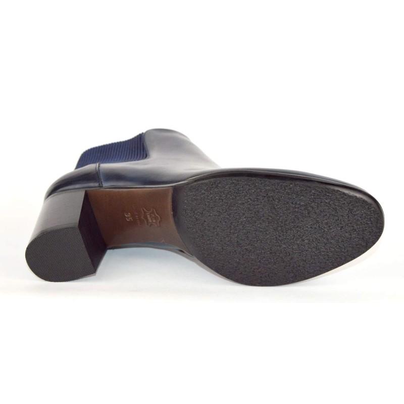 Altariva Polacchino Elastico Blu Fondo cuoio e gomma