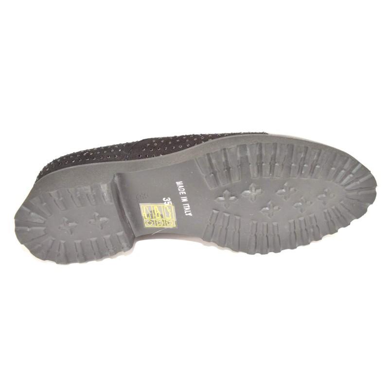 Altariva Pantofola Puntale Strass Nero Fondo gomma