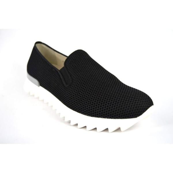 181 Loafers Rete Nero Fondo gomma