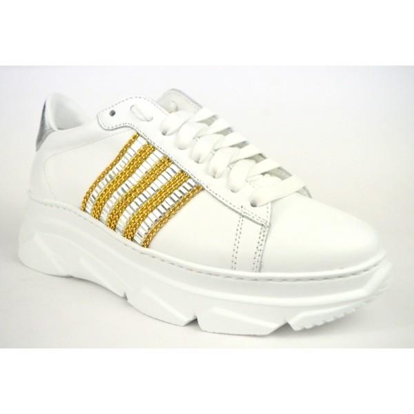 Stokton Sneakers Bianco Fondo gomma