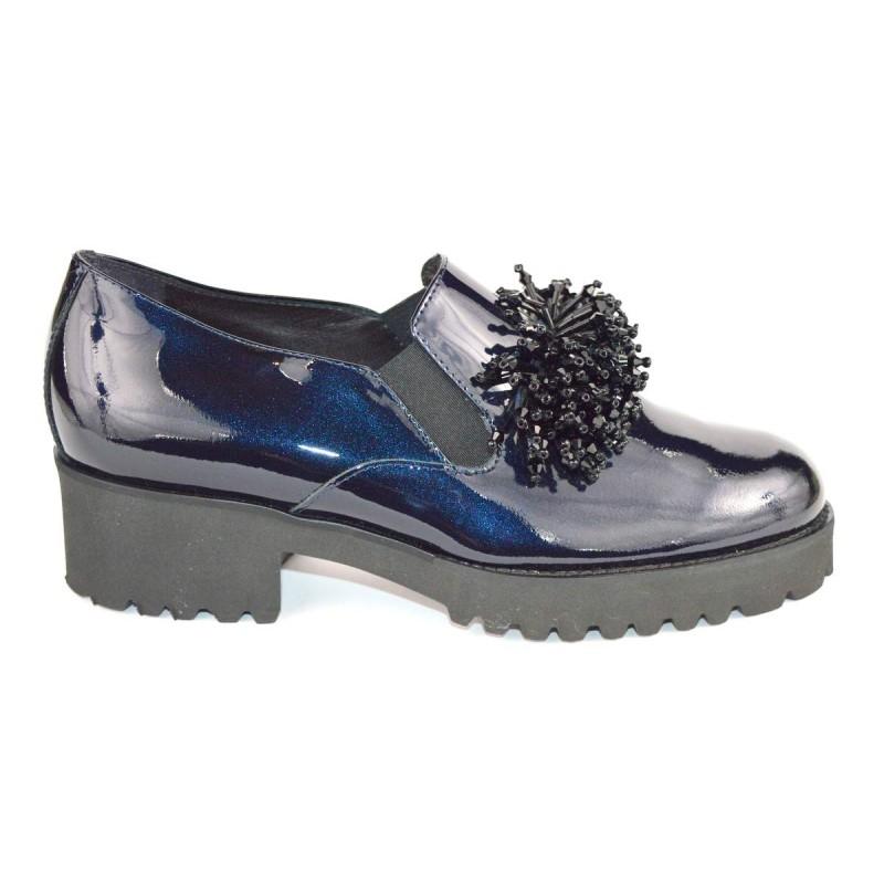 Altariva Pantofola Ciuffo Blu Fondo gomma