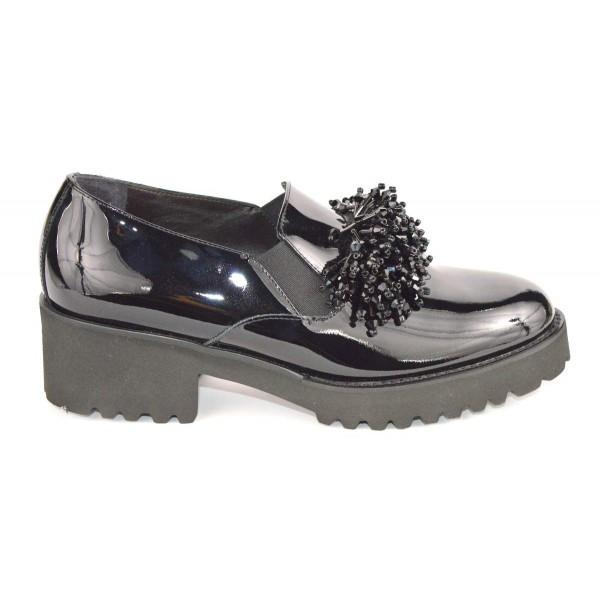 Altariva Pantofola Ciuffo Nero Fondo gomma