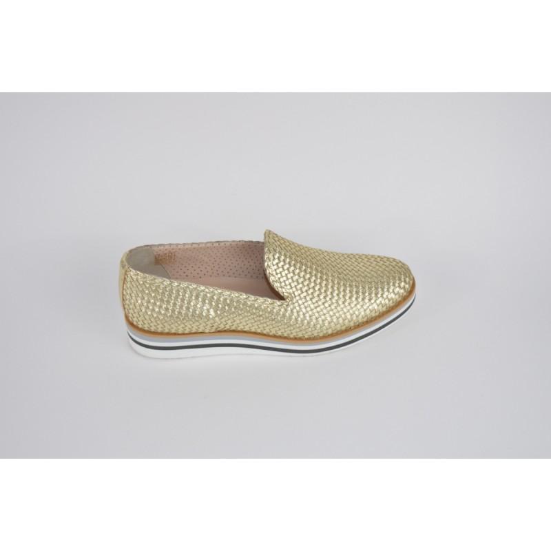 Altariva Pantofola Intrecciato   Oro Fondo gomma
