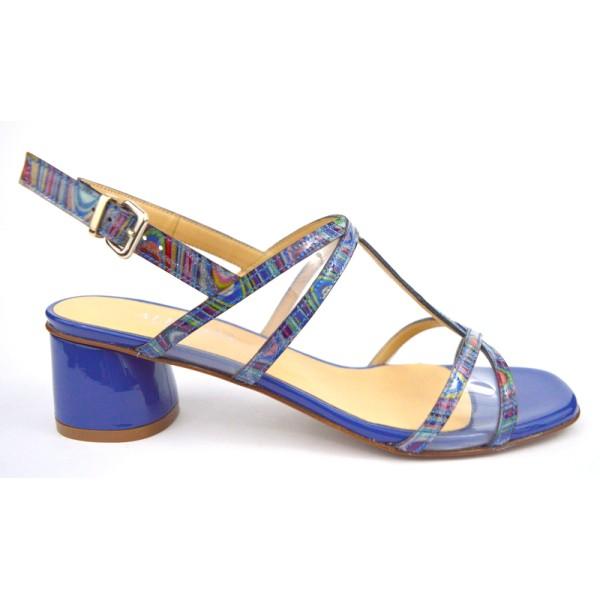 Altariva Sandali Multi Blu + multicolore Fondo cuoio