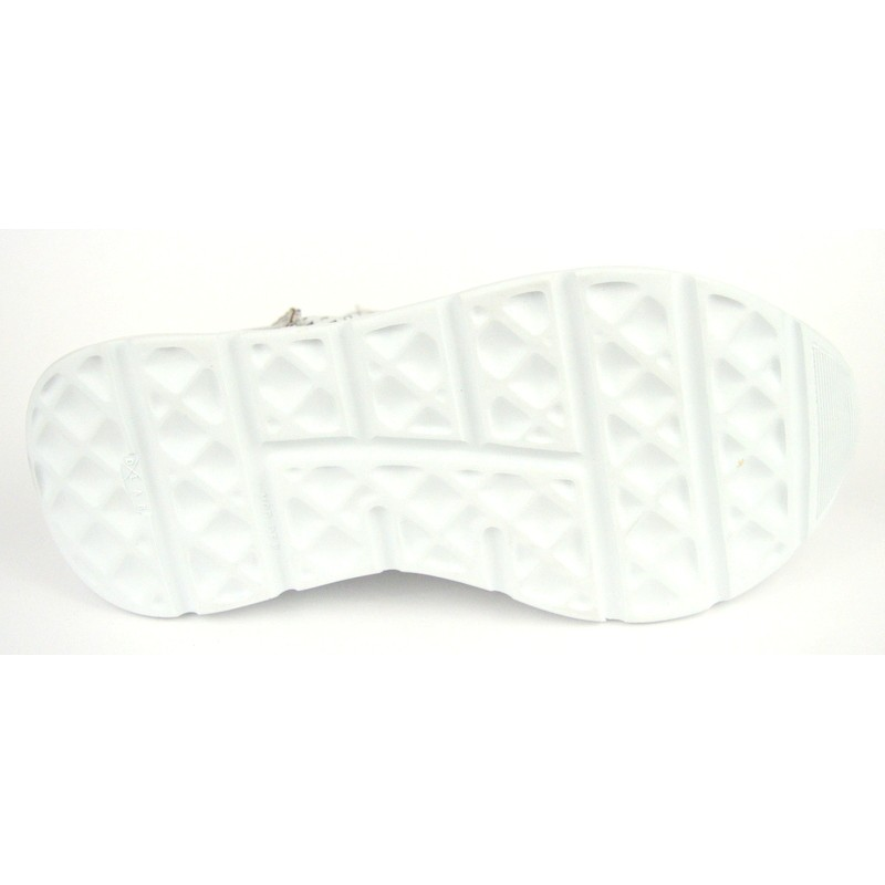 Andia fora Sneakers Traforata Bianco + argento Fondo gomma