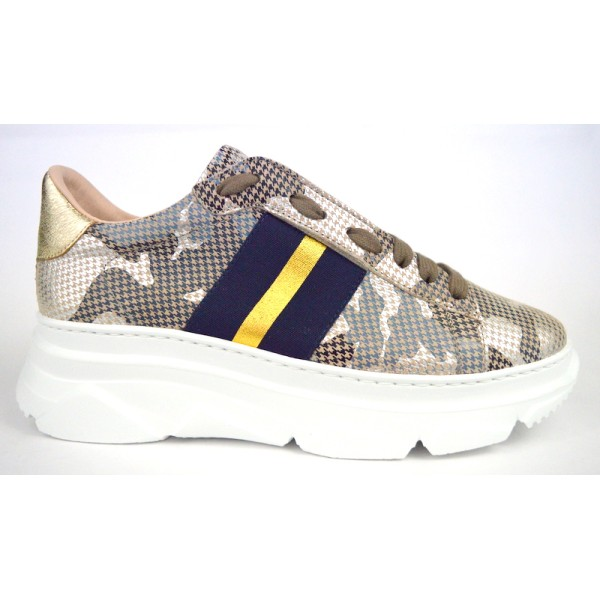 Stokton Sneakers Tortora Fondo gomma