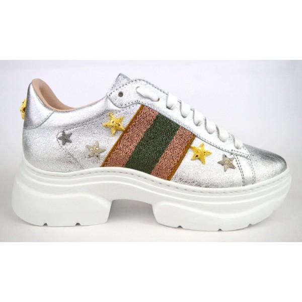 Stokton Sneakers Argento Fondo gomma