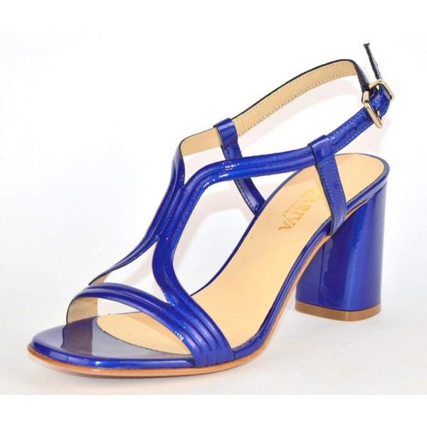 Altariva Sandali Cinturino Blu Fondo cuoio