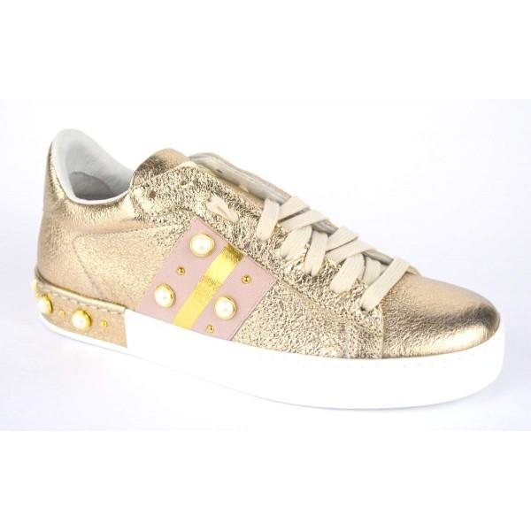 Stokton Sneakers Perle Oro Fondo gomma