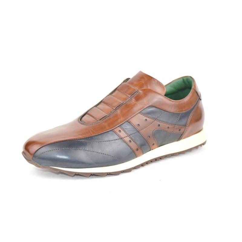 Galizio torresi Sneakers Pantofola Elastici Marr + blu Fondo gomma