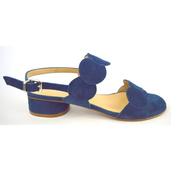 Altariva Sandali Due fasce Blu Fondo cuoio