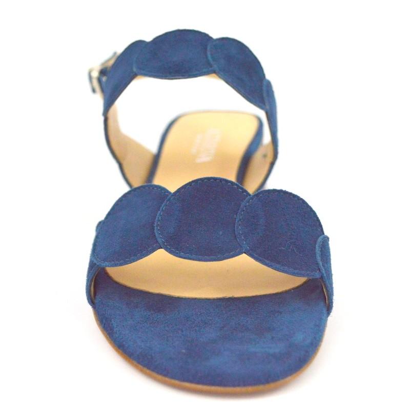 Legazzelle Sandali Due fasce Blu Fondo cuoio