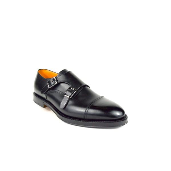 Fabi Pantofola Due fibbie   Nero Fondo cuoio e gomma