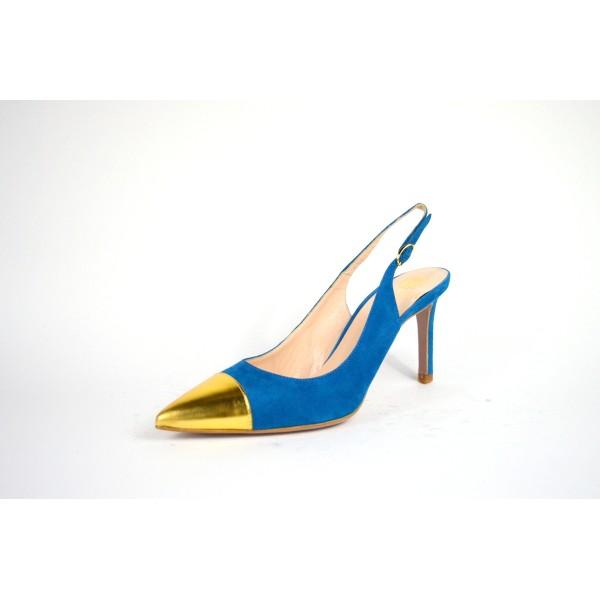 Altariva Chanel Puntale Blu + oro