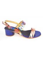 Altariva Sandali Due fasce Multi Blu + multicolore Fondo cuoio