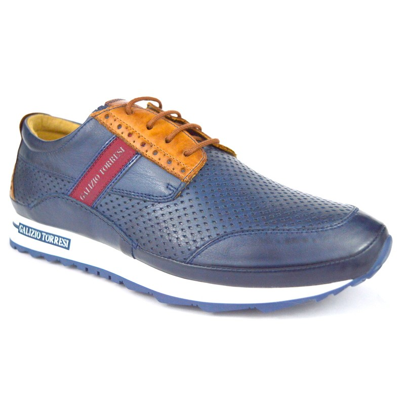Galizio torresi Sneakers Sneakers Forato Blu + cuoio