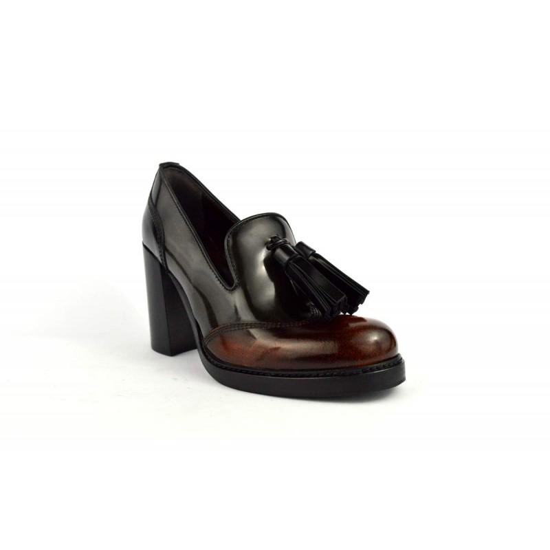 Laura bellariva Pantofola Nappine Cuoio+grigio+nero Fondo gomma