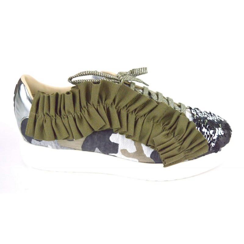181 Sneakers Ruche Fondo gomma