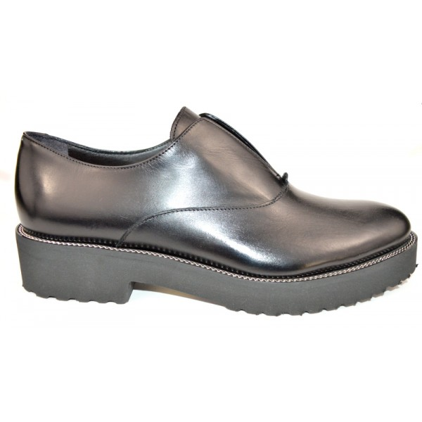 Altariva Pantofola Liscio Nero Fondo gomma