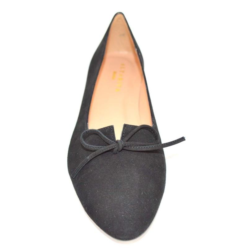 Altariva Pantofola Fiocco Nero Fondo gomma