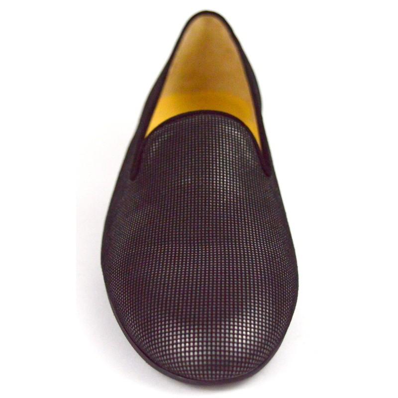 Brunate Pantofola Nero + grigio Fondo gomma