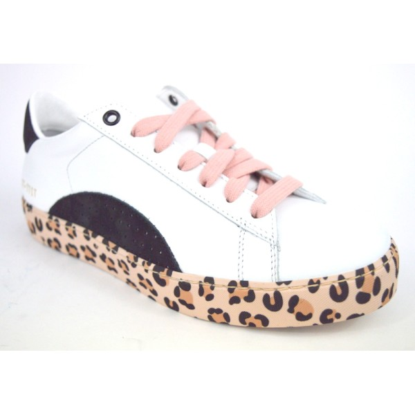 Stokton Sneakers Fondo maculato Bianco + nero Fondo gomma