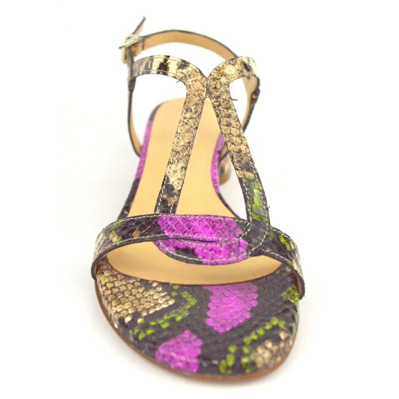 Altariva Sandali Stampato pitone Multicolore Fondo cuoio