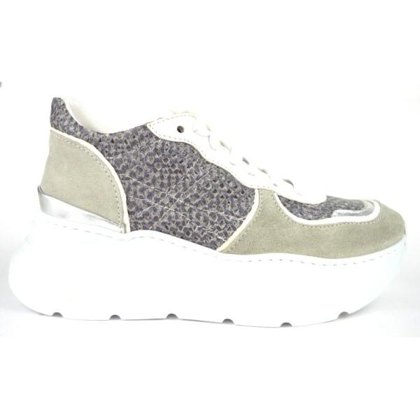 Andia fora Sneakers Tortora+grigio Fondo gomma