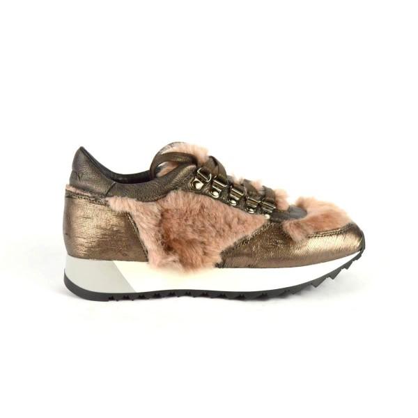 Stokton Sneakers Pelo Cipria Fondo gomma