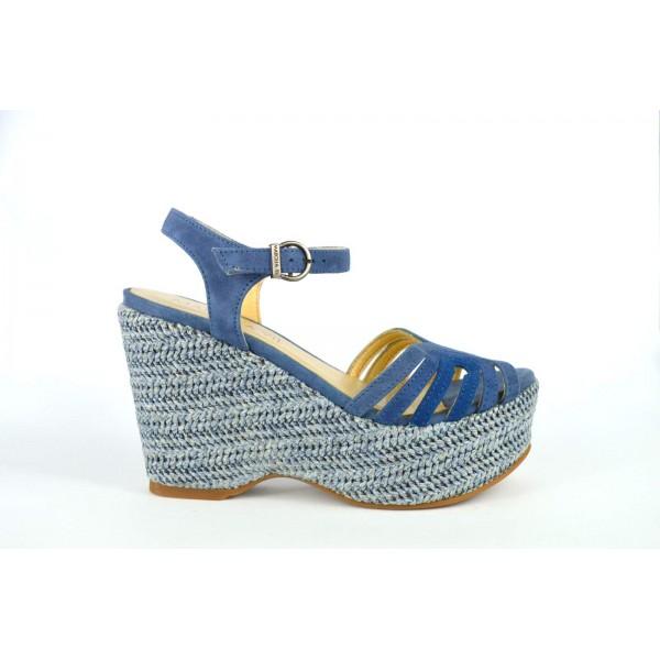 Marcela yil Scarpa Multicolore Blu Fondo gomma