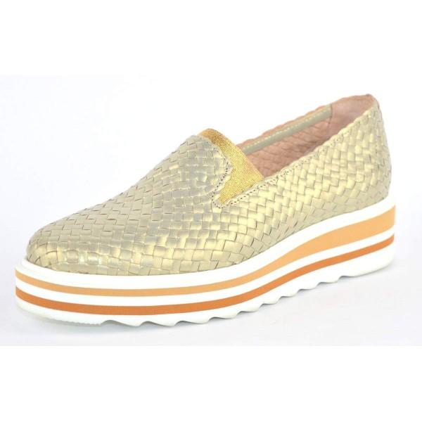 Altariva Pantofola Intrecciata Oro Fondo gomma