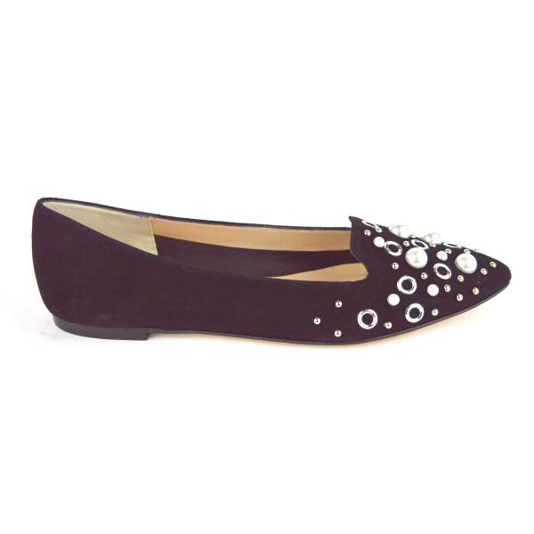 Altariva Pantofola Perle Nero Fondo cuoio
