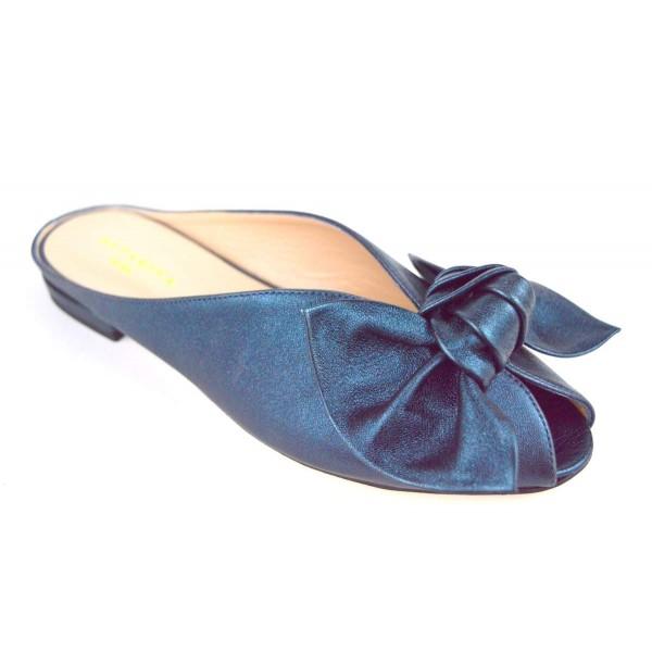 Altariva Pianella Fiocco Blu Fondo cuoio