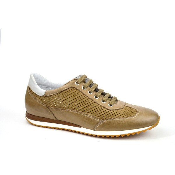 Galizio torresi Sneakers Traforato   Tortora Fondo gomma