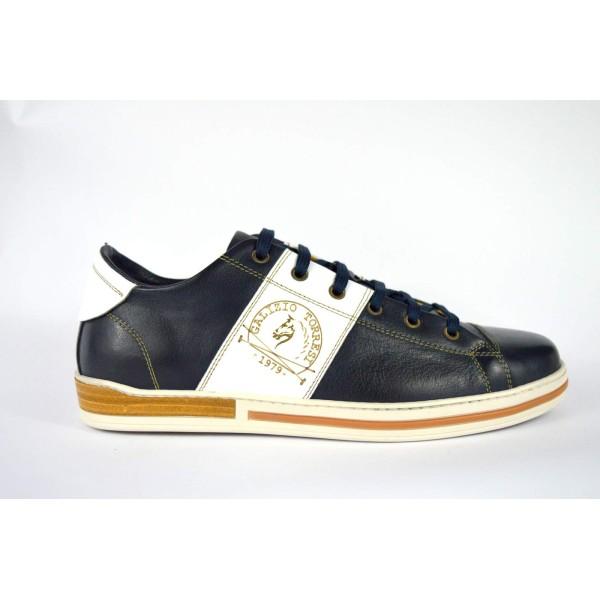 Galizio torresi Sneakers Puntale Fascia Blu + bianco Fondo gomma