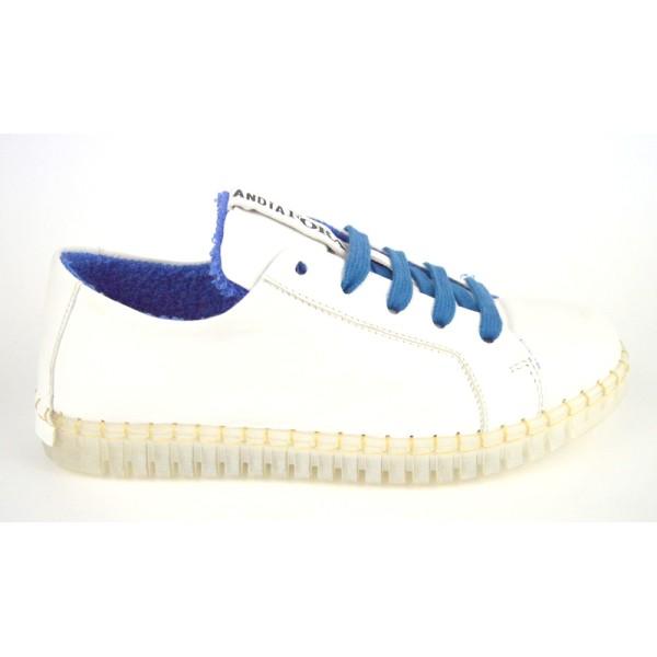 Andia fora Sneakers Bianco + blu Fondo gomma