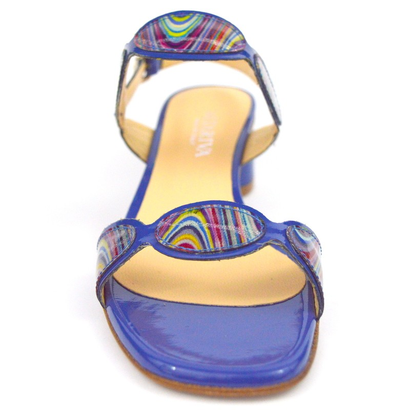 Legazzelle Sandali Ovali Multi Blu Fondo cuoio