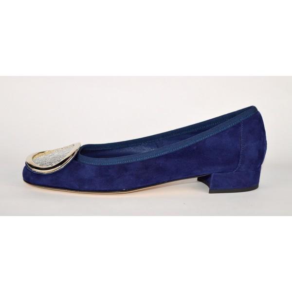 Altariva Ballerina Piastra Multicolore Blu Fondo cuoio