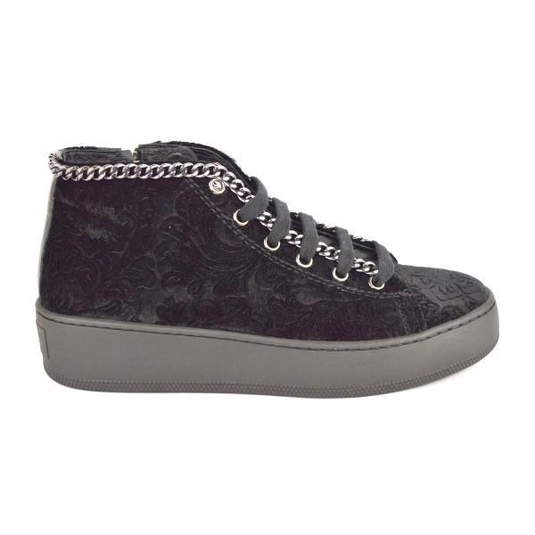 Stokton Sneakers Alta Catena Nero Fondo gomma